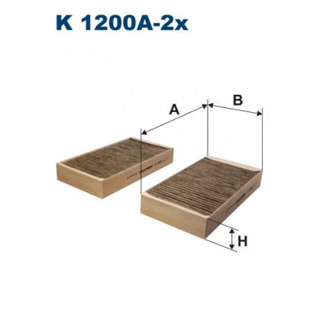FILTRON FILTR KABINY WEGLOWY K1200A-2X