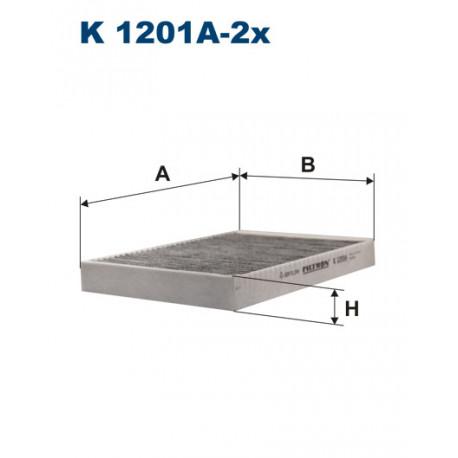 FILTRON FILTR KABINY WEGLOWY K1201A-2X