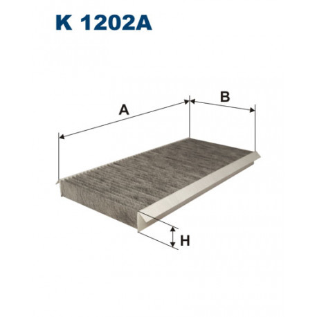 FILTRON FILTR KABINY WEGLOWY K1202A