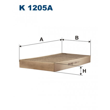 FILTRON FILTR KABINY WEGLOWY K1205A