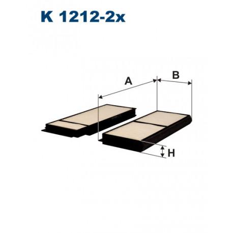 FILTRON FILTR KABINY K1212-2X