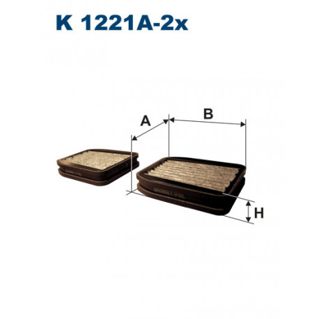FILTRON FILTR KABINY WEGLOWY K1221A-2X