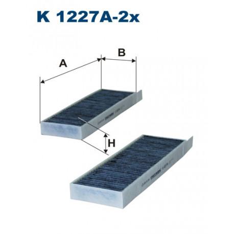 FILTRON FILTR KABINY WEGLOWY K1227A-2X