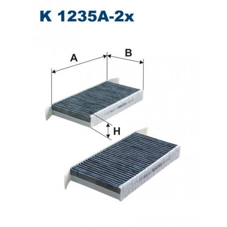 FILTRON FILTR KABINY WEGLOWY K1235A-2X