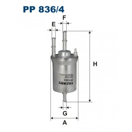 FILTRON FILTR PALIWA   4 BARY PP836/4