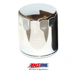 AMSOIL EaOM Chrome Motorcycle Oil Filters EAOM136C