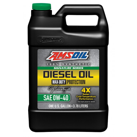 AMSOIL 0W40 Max-Duty Signature Series Diesel Oil DZF 3,784L