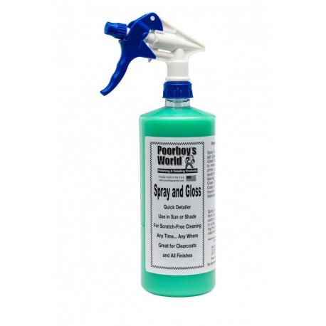 Poorboys Spray & Gloss - Quick detailer do lakieru samochodowego 473 ml