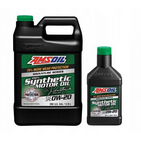 Image of AMSOiL Signature Series 0W20 100% Syntetyk ASM 4,73l