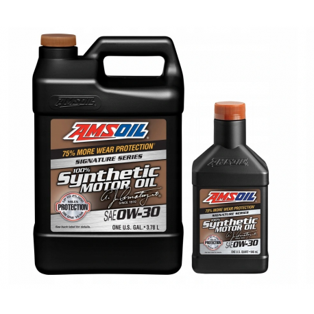 Image of AMSOiL Signature Series 0W30 100% Syntetyk AZO 4,73l