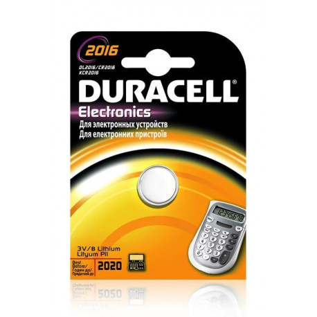 BATERIA DURACELL DL2016 B1 PASTYLKA