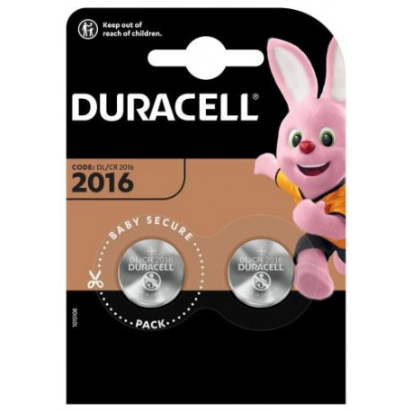 BATERIA DURACELL DL2016 B2 PASTYLKA